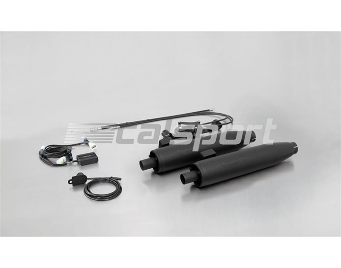 007752-290312 - Remus Satin Black Slip On kit With SC15 Noise Control System - Inc Cat - Road Legal With Removable Baffles - No Endcaps - See Options
