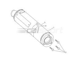 110-445-5482 - Slip-On Polished Titanium Sleeve