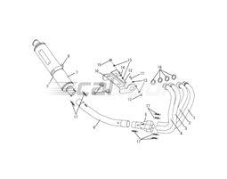 110-477-8290 - Full System Titanium Headers Carbon Silencer Fixed Baffle