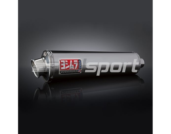 1115255 - Yoshimura Stainless RS-3 Oval Slip On - Race (Removeable Baffle)