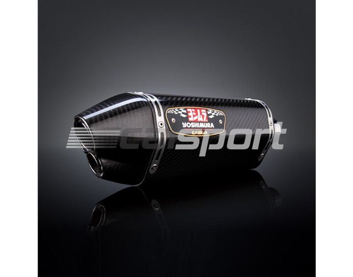 1118123220 - Yoshimura Carbon R77D Dual Exit Slip On With Carbon Coned End Cap - Race