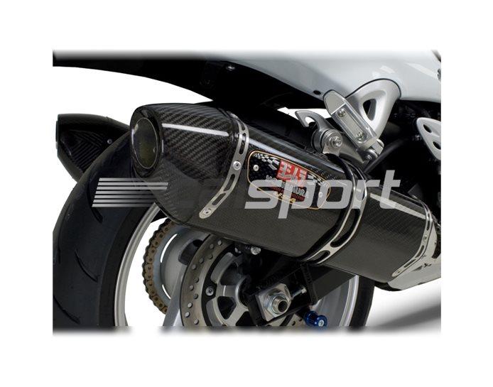 1121202 - Yoshimura Carbon R-77 Slip-Ons (pair) Carbon End Cap - Race (removable Baffle)