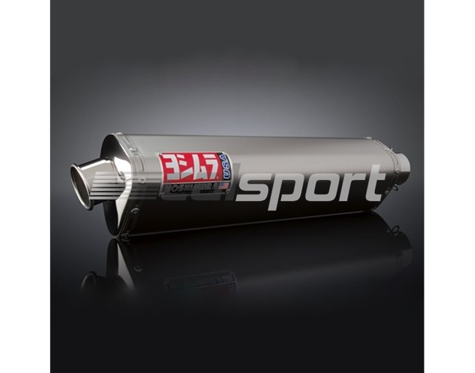 1125267 - Yoshimura Titanium Tri-Oval Slip On RACE (Removable Baffle)