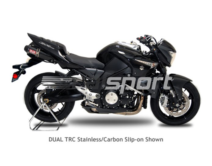 1135272 - Yoshimura Carbon TRC Tri-Oval Slip Ons (pair) With Carbon Coned End Cap RACE (Removable Baffle)
