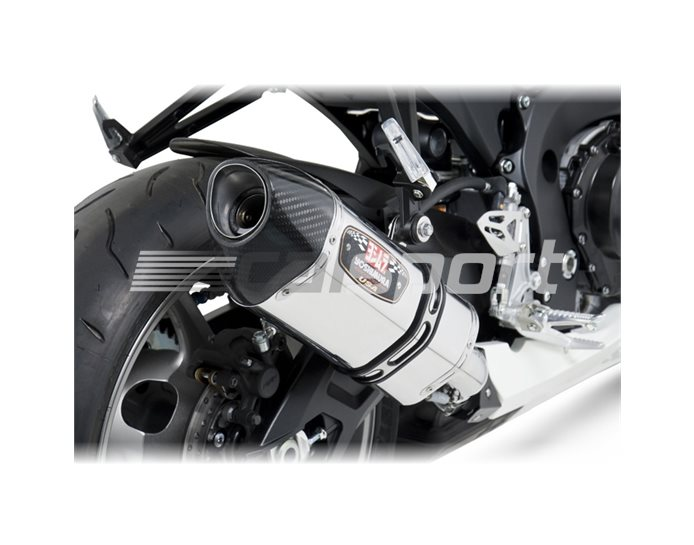 1160020520 - Yoshimura Stainless R77 Slip On With Carbon Coned End Cap RACE (Removable Baffle)