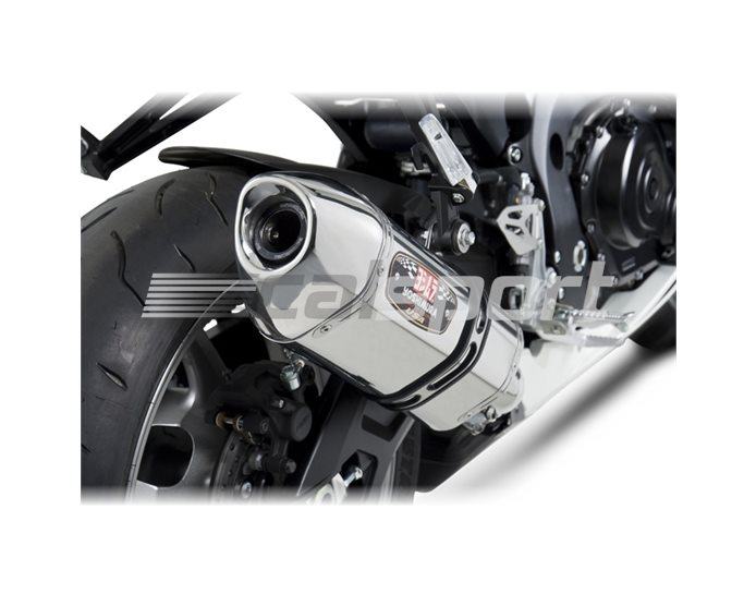 1160020550 - Yoshimura Stainless R-77 Slip-On - Stainless End Cap RACE (Removable Baffle)