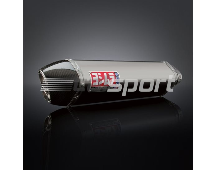 1160021520 - Yoshimura Stainless TRCD Dual-Exit Tri-Oval Slip On (Coned End Cap) - Race