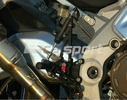 118A015 - LSL 2Slide Adjustable Rearset Kit - Black,  Inserts, other colours available. - Replacement brake line required.
