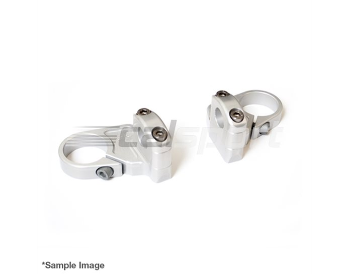 120H045 - LSL Superbike Conversion, Two piece adapter plate, 22.2mm bars, silver