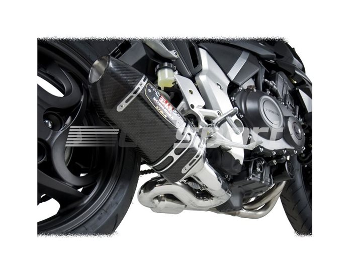 1210040220 - Yoshimura Carbon R77 34 System - (de-cat + silencer) Carbon Coned End Cap - Requires Refuelling Device - Race (removable Baffle)
