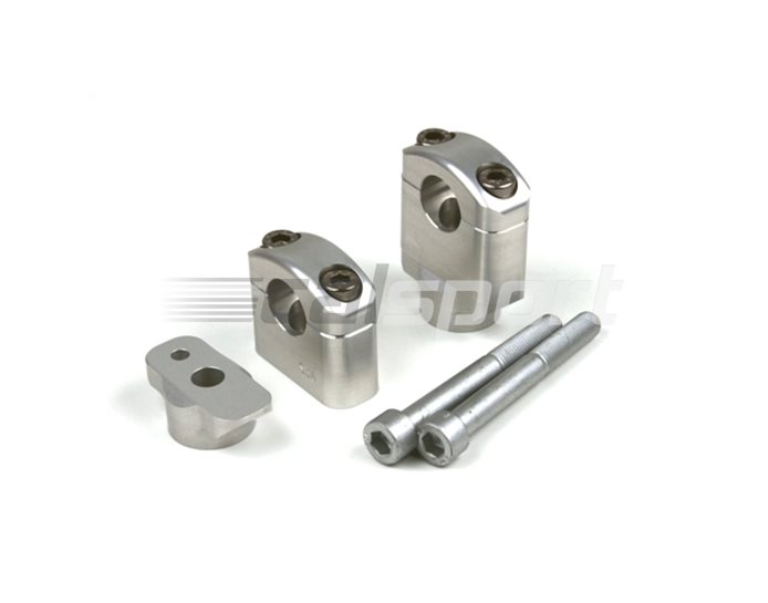 121S064SI - LSL 22.2mm replacement handlebar clamps, Silver (black or silver available) - rise -25mm