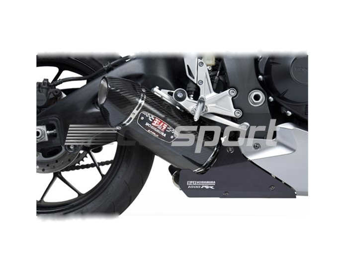 1220020220 - Yoshimura Carbon R77 Slip On With Carbon Coned End Cap Inc Heatshield RACE (Removable Baffle)