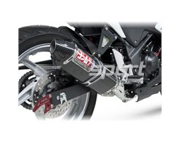 1225007220 - Yoshimura Carbon TRC Full System - Stainless Headers - Race (removable Baffle)