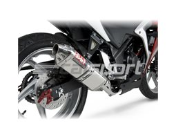 1225007550 - Yoshimura Stainless TRC Full System - Stainless Headers RACE (Removable Baffle)
