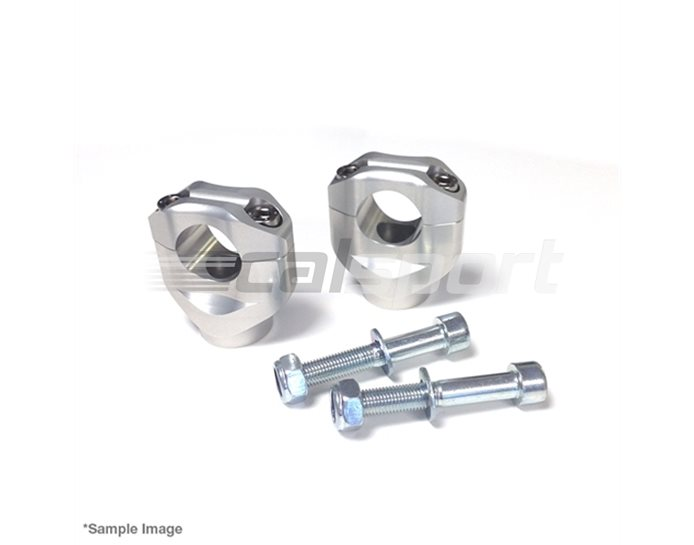 127M013SI - LSL 28.6mm (X-Bar) Handlebar Clamps, Silver (black or silver available)