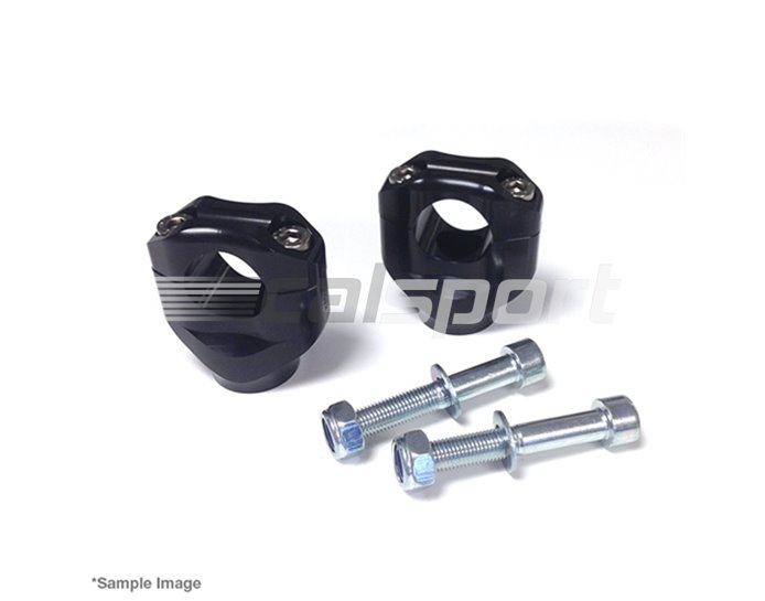 127M021SW - LSL 28.6mm (X-Bar) Handlebar Clamps, Black (black or silver available) - Not with standard handlebars, fouls fork tops.