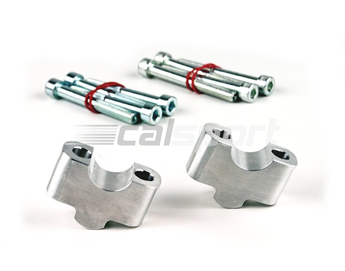 127RD25T - LSL 28.6mm (X-Bar) Riser Blocks, 25mm rise, Triumph, silver - for bikes with standard 28.6mm bars