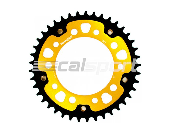 1303-41 - Supersprox Stealth Sprocket, Anodised Alloy, Gold Centre, 41 teeth