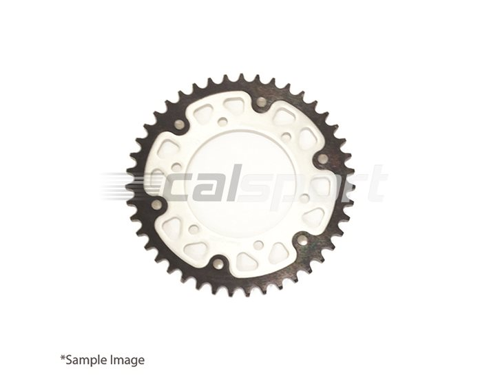 1304-42-SILVER - Supersprox Stealth Sprocket, Anodised Alloy, Silver Centre, 42 teeth