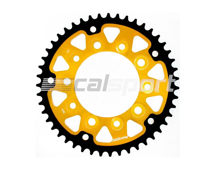 1304-47 - Supersprox Stealth Sprocket, Anodised Alloy, Gold Centre, 47 teeth