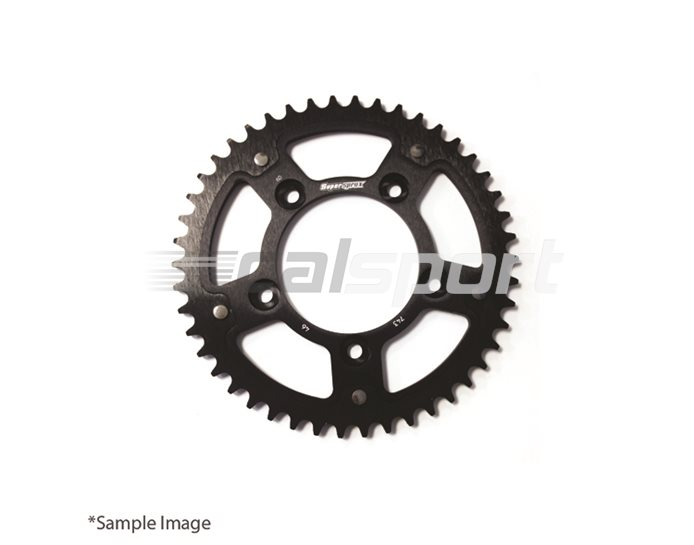 1307-42-BLACK - Supersprox Stealth Sprocket, Anodised Alloy, Black Centre, 42 teeth