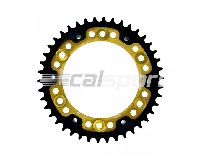 1307-42 - Supersprox Stealth Sprocket, Anodised Alloy, Gold Centre, 42 teeth