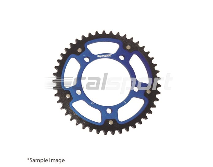 1332-45-BLUE - Supersprox Stealth Sprocket, Anodised Alloy, Blue Centre, 45 teeth
