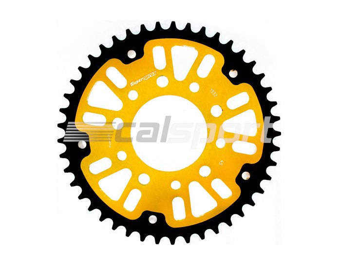 1332-45 - Supersprox Stealth Sprocket, Anodised Alloy, Gold Centre, 45 teeth