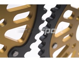 1334-42 - Supersprox Stealth Sprocket, Anodised Alloy, Gold Centre, 42 teeth