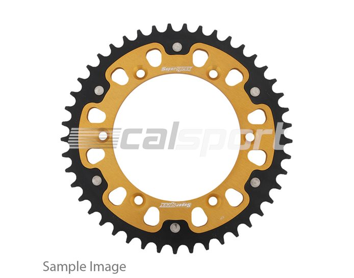 1346-43 - Supersprox Stealth Sprocket, Anodised Alloy, Gold Centre, 43 teeth