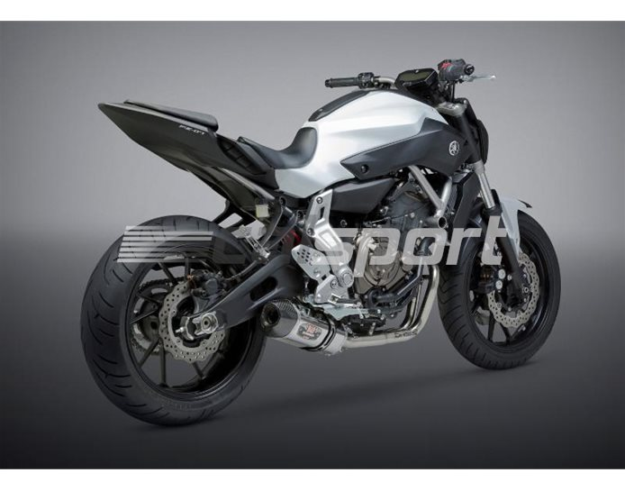 137000J520 - Yoshimura Stainless Full System - R77 Silencer - Stainless Header Carbon Coned End Cap - Race (Removable Baffle)