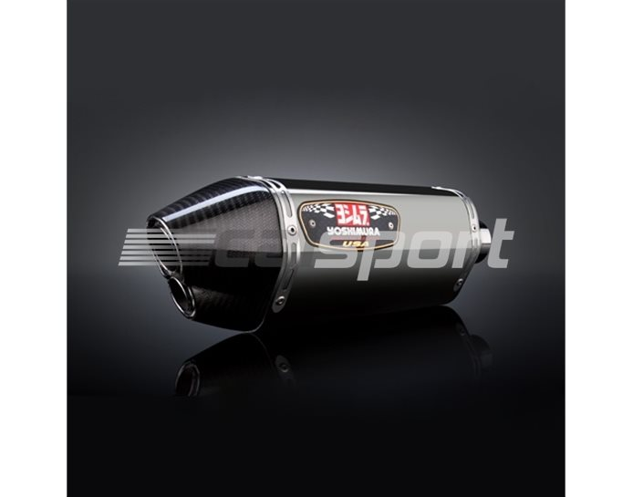 1380023520 - Yoshimura Stainless R-77D Slip-On - Race (Removable Baffle)