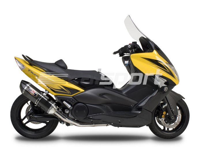 1390002 - Yoshimura Carbon R-77 Full System - Stainless Headers - Carbon End Cap RACE (Removable Baffle)