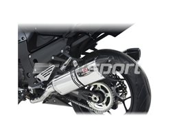 1414020520 - Yoshimura Stainless R77 Slip On Pair (Note - Cannot Use Centre Stand) - Race (Removable Baffle)