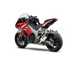 1415020520 - Yoshimura Stainless R77 Slip Ons (pair) With Carbon End Cap - Note - Not Confirmed With Pannier Fitment RACE (Removable Baffle)