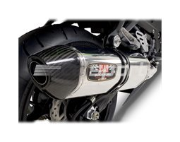 1426005 - Yoshimura Stainless R77 (4-2-1) Full System - Duplex Header Carbon Coned End Cap - Stainless Header. NOTE; Requires Refuelling Device RACE (