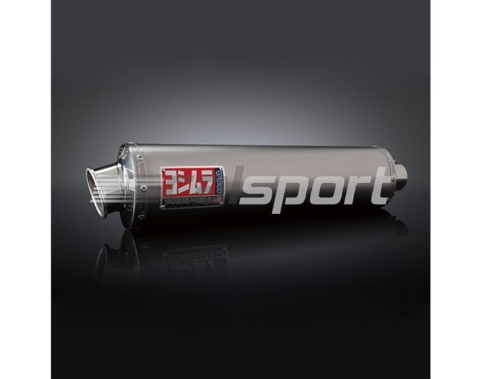 1430457 - Yoshimura Titanium RS-3 Oval Bolt-On - Race (removable Baffle)