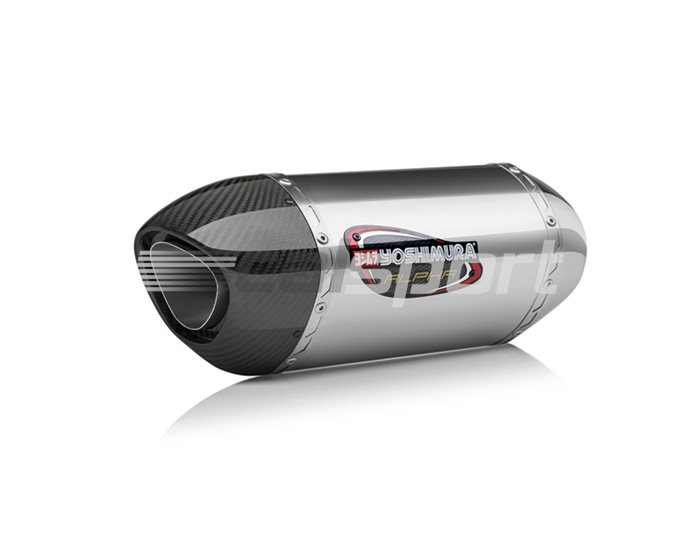 14651AM520 - Yoshimura Stainless Alpha Full System With Carbon Coned End Cap, Stainless, Carbon Coned End Cap, Works Finish RACE (Removable Baffle)