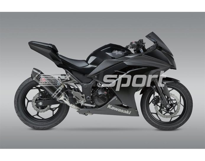 147010J220 - Yoshimura Carbon R77 Full System With Carbon Coned End Cap - Stainless Headers - Race (removable Baffle)