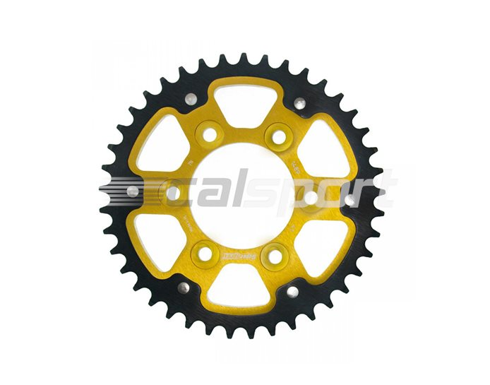1489-41 - Supersprox Stealth Sprocket, Anodised Alloy, Gold Centre, 41 teeth