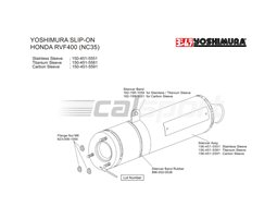 150-451-5591 - Yoshimura Carbon Bolt On Cyclone Silencer - Yoshimura Japan - Race (Removeable Baffle)
