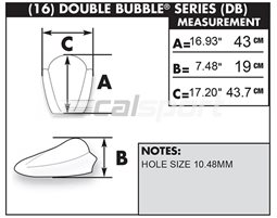 16-811-19 - Zero Gravity Double Bubble, Dark Smoke -  other tints available, prices may vary