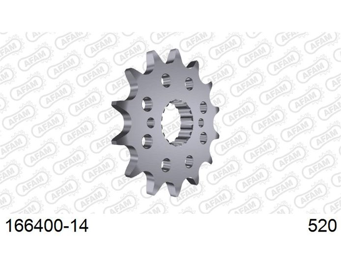 AFAM Front Sprocket, 520 (OE pitch), Steel - 14T (orig size)