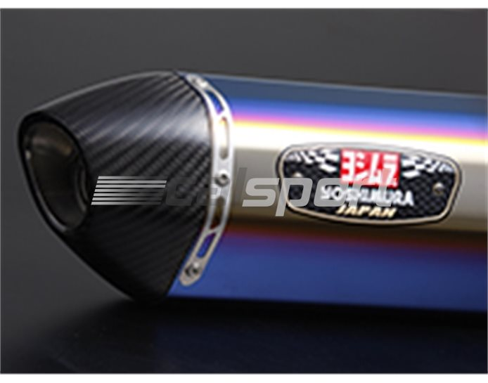 170-380-5181B - Yoshimura Titanium Blue R77S Full System - Carbon Outlet Yoshimura Japan (EEC Marked Silencer - Not Road Legal As No Cat Converter) - Race (
