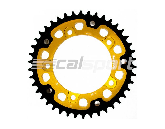 1792-42 - Supersprox Stealth Sprocket, Anodised Alloy, Gold Centre, 42 teeth