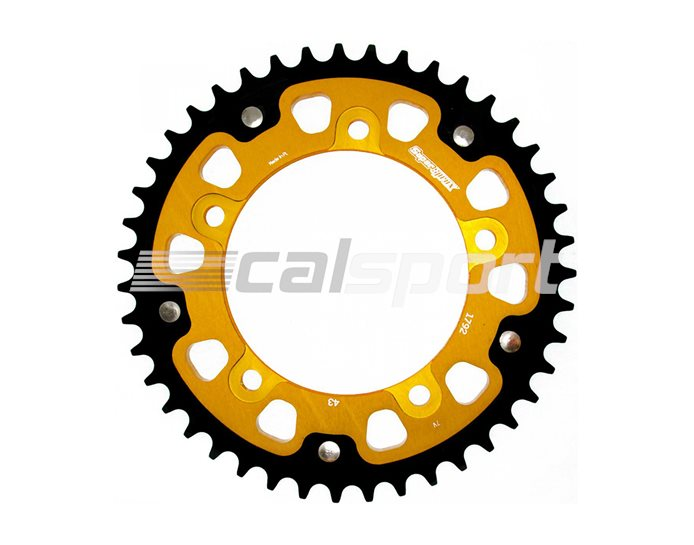 1792-43 - Supersprox Stealth Sprocket, Anodised Alloy, Gold Centre, 43 teeth