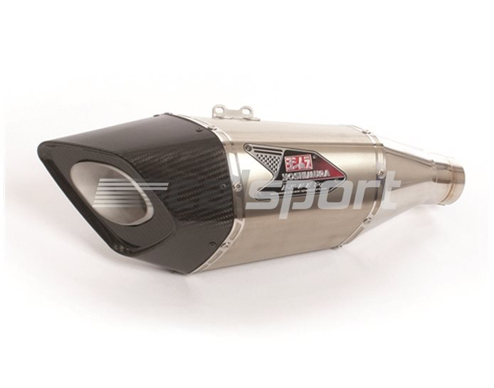 Yoshimura Titanium R11-Sq Slip-On Kit - Carbon End Cap Single Outlet - Race