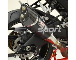 180-519-5520 - Yoshimura Metal Magic R-11 Slip On With Carbon Twin-Exit Coned End Cap - Yoshimura Japan - Race