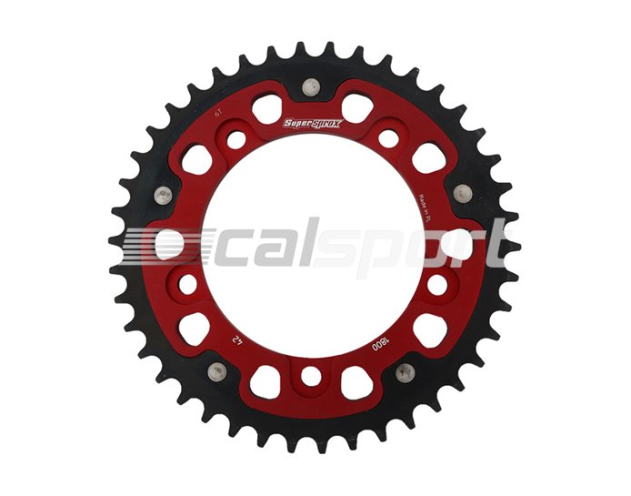 1800-42-RED - Supersprox Stealth Sprocket, Anodised Alloy, Red Centre, 42 teeth