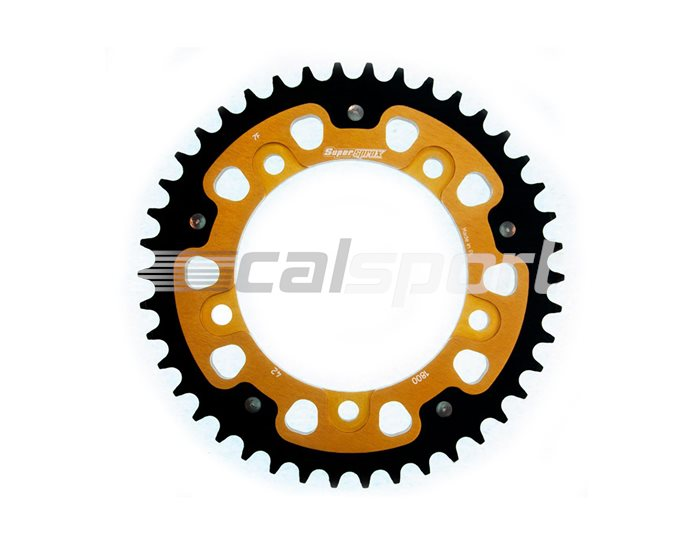 1800-42 - Supersprox Stealth Sprocket, Anodised Alloy, Gold Centre, 42 teeth